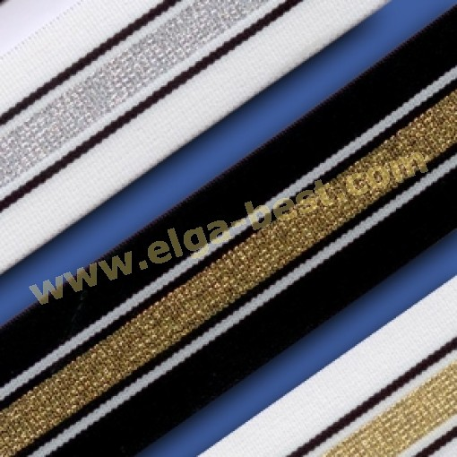 700260-040-4mm  Elastiek met lurex
