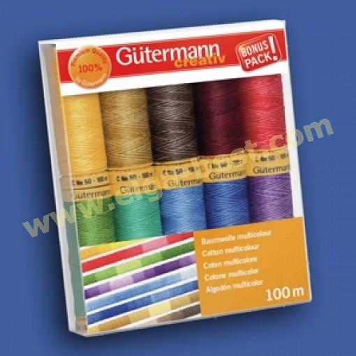 Gütermann naaigaren set katoen multicolor