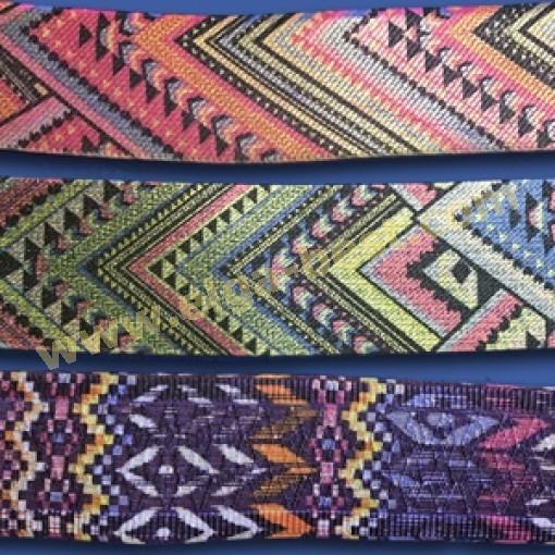 Bandelastiek Etnico multicolor