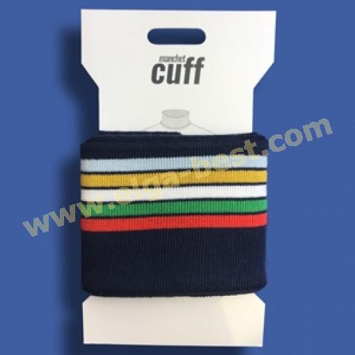 4 Cuffs Boordje uni streep 135cm x 7cm