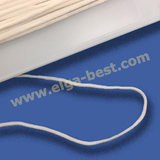 WX 2,5mm Koordelastiek wit opmaak 100 m