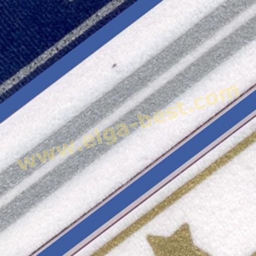 Galloon Trim 30mm  Glitter stripes 100% polyester col 2