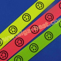 Bretel elastiek smiley neon