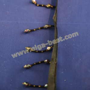 Kralenfranje Black 1674-50mm