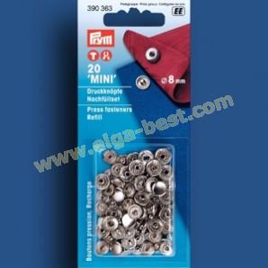 Prym 390363 Navulling naaivrijdrukknoop MS voor 390360 - zilver - 8mm