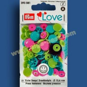 Prym 393081 bloemen drukknopen  6 mm