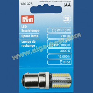 LED reservelampje naaimachine bayonet fitting