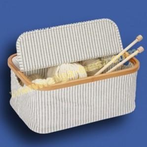 Prym 612682 Box canvas & bamboo grijs