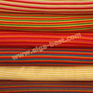 Boord katoen - elastomeer gestreept
