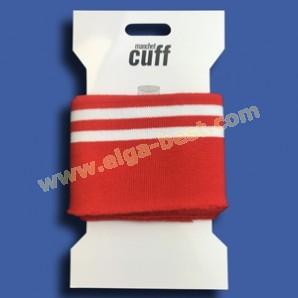 1 Cuffs Boordje uni streep 135cm x 7cm