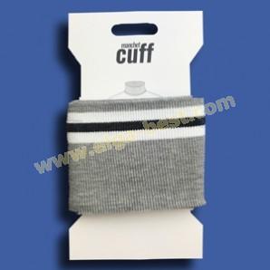 2 Cuffs Boordje uni streep 135cm x 7cm