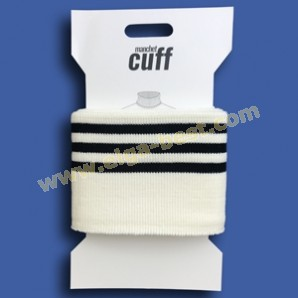 3 Cuffs Boordje uni streep 135cm x 7cm