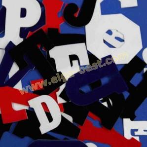 Flock letters 6 cm
