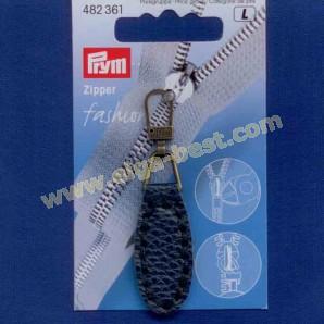 Prym 482361 Fashion Zipper lederimitatie ovaal