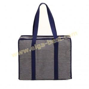 All-in-one tas denim & stripes L