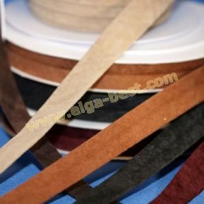 Biasband imitatie leder gevouwen 20mm