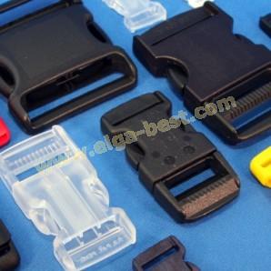 Klikgespen nylon zwart en kleur