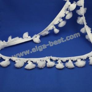 Flosjesband / franje polyester