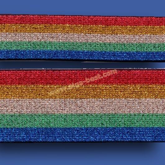 700516 Elastiek met lurex Rainbow