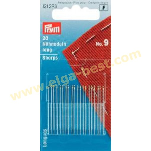 Prym 121293 Sewing needles long no. 9