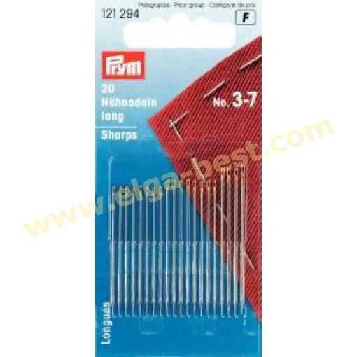 Prym 121294 Sewing needles long no. 3-7