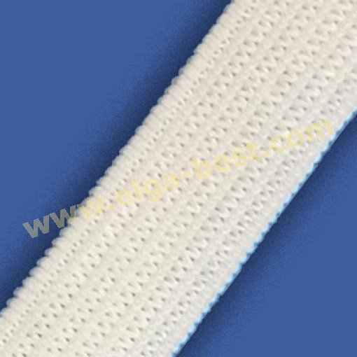 Elastic flat  white 10mm - 100m
