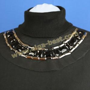 5022 Luxury collar black - silver
