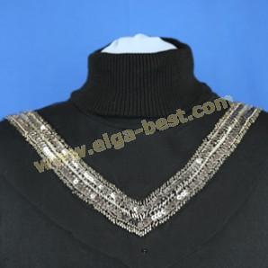 5023 Luxury collar black - silver