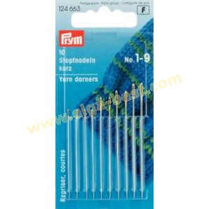 Prym 124663 Yarn/cotton darners Short no. 1-9