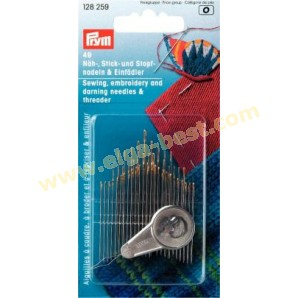 Prym 128259 Sewing-, embroidery needles and yarn darners with needle threader