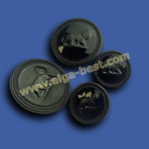 3498Z Blazer buttons  Zamac/Epoxy Lion