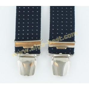 6B05 Suspenders extra heavy - 3 clips - 3,5 cm