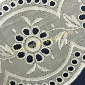 Broidery cotton white