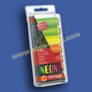 Gütermann set 731148 / 100% polyester - Neon