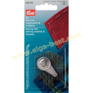 Prym 128152 Sewing needles and yarn darners with needle threader