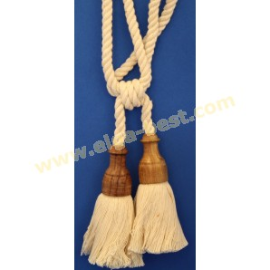 Tie backs natural - with wood and double tassle