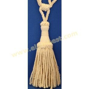 Tie backs natural - single tassle