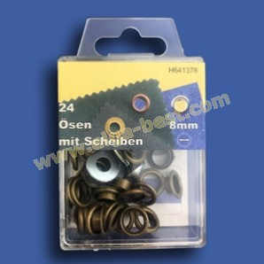 Ringes and eyes rustproof Old brass 8mm