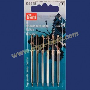 Prym 125548 Embroidery needles without point with goldcoloured eye no. 14
