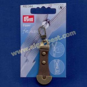 Prym 482344 Fashion Zipper leather metal