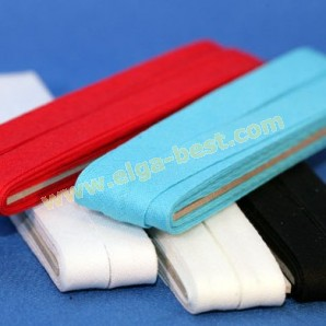 Bias binding band cotton uni colours on card