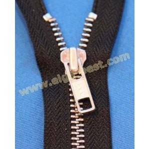 YKK Self service metal nickel 6mm - open end