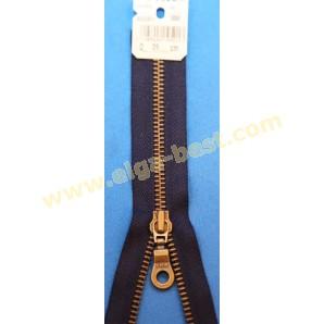 YKK Self service metal 6mm antique gold - open end