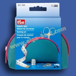 Prym 651200 Travel Box sewing set blue fuchia