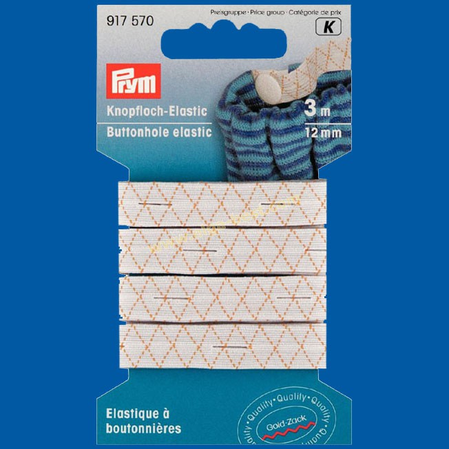 Prym 915570 Buttonhole elastic 12mm