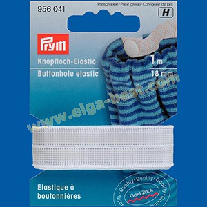 Prym 956041 Buttonhole elastic 18mm
