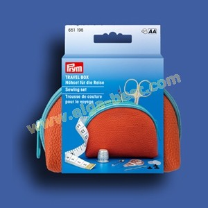 Prym 651198 Travel Box sewing set orange - blue