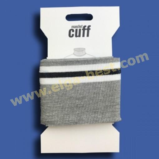 2 Cuffs Borde uni 135cmx7cm