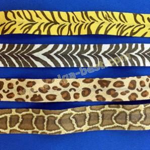 Schrägband baumwolle 20mm Safari Prints