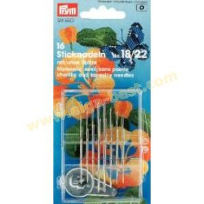 Prym 124550 Sticknadeln sortiert mit/ohne spitze